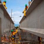 Obras da linha BRT Transoeste (Foto: Moskow / Prefeitura do Rio)