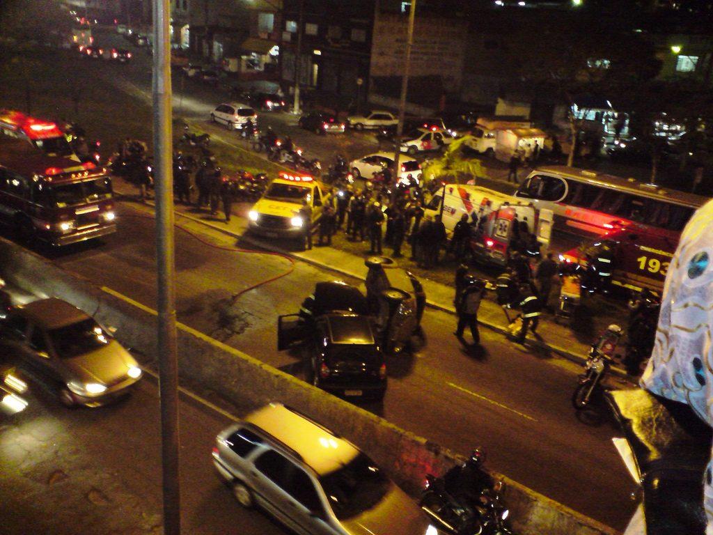 Acidente na Radial Leste, em São Paulo (Foto: Milton Jung / Flickr)