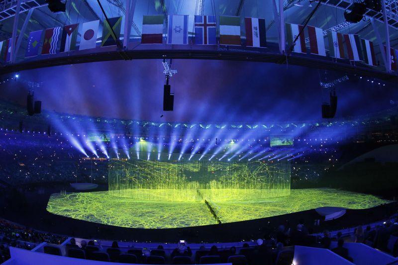 Cerimônia de abertura dos Jogos Olímpicos Rio 2016 no Estádio do Maracanã (Foto: Fernando Frazão/Agência Brasil)