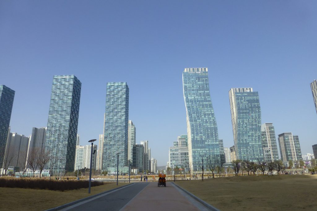 Cidade de Songdo, na Coreia do Sul. (Foto: Andy Nelson/Flickr-CC)