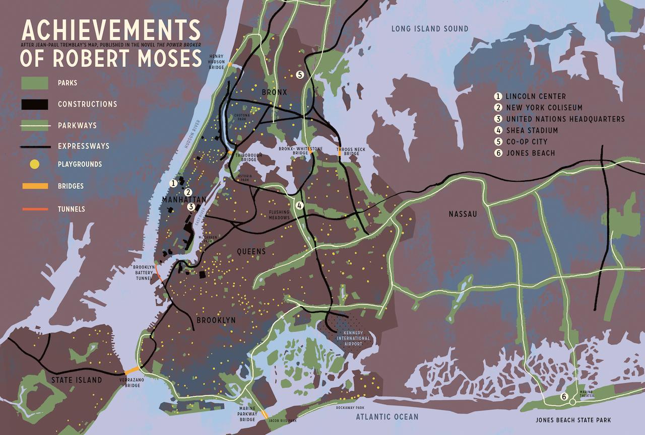 Principais construções de Robert Mose (Reprodução: The Power Broke)