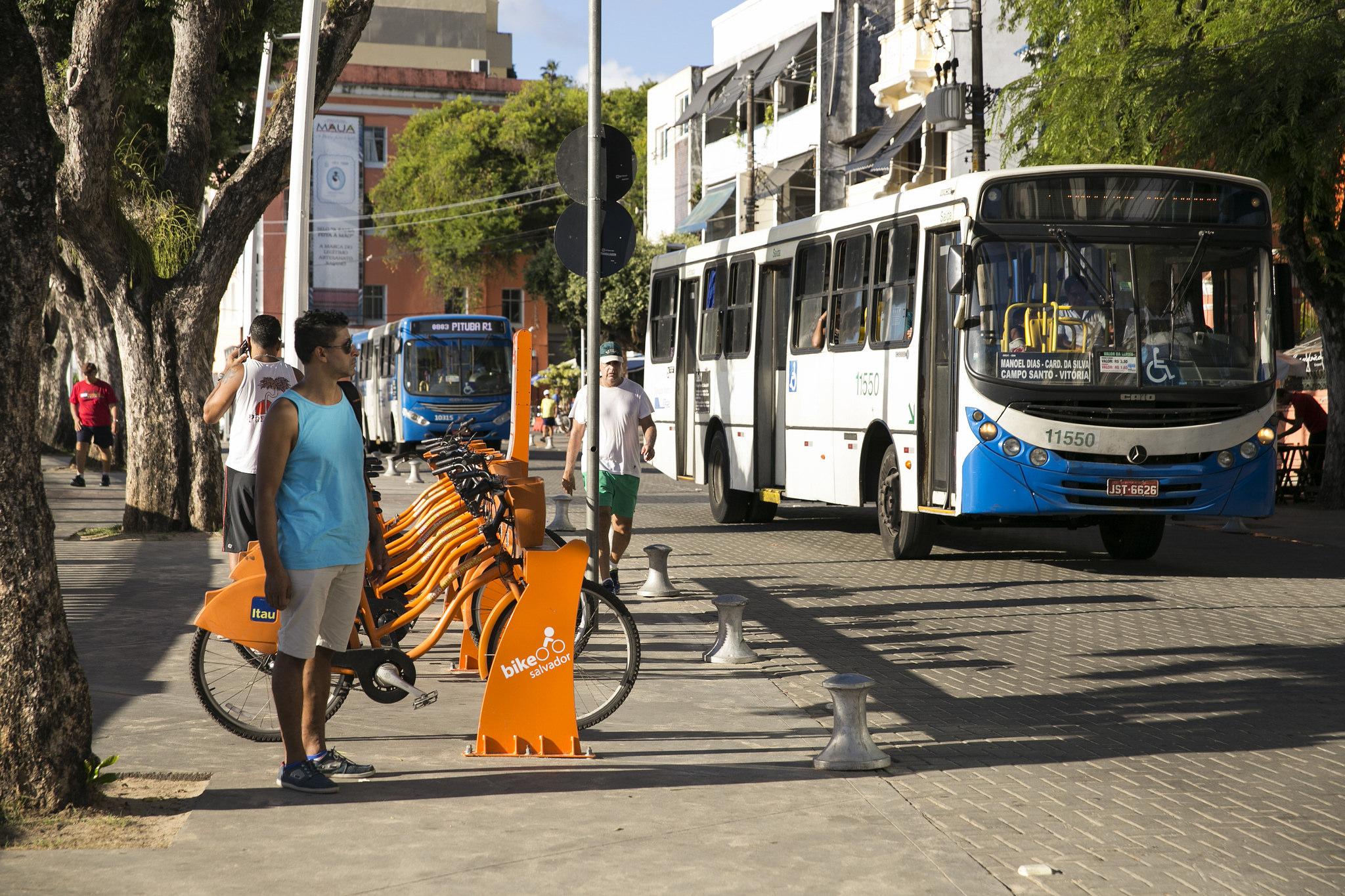 Sistema de bicicleta compartilhada em Salvador.