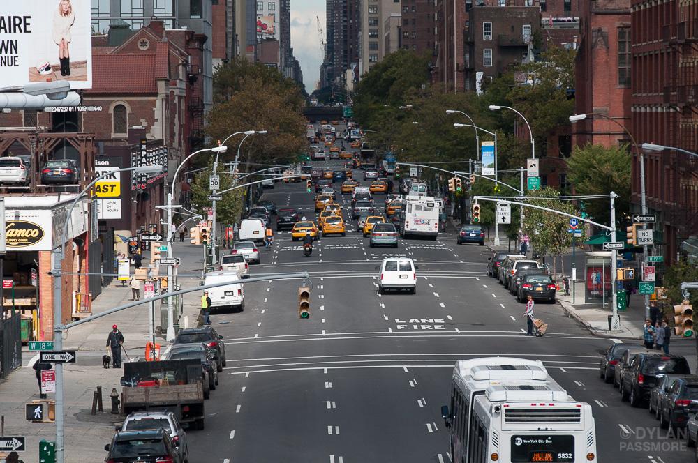 vias arteriais de uma cidade
