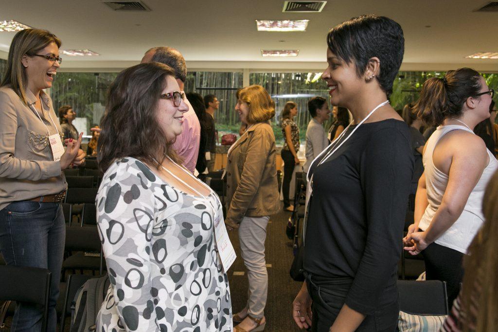 Participantes do Seminário Mobilidade Urbana e a Perspectiva das Mulheres, organizado pelo WRI Brasil Cidades Sustentáveis. (Foto: Mariana Gil/WRI Brasil Cidades Sustentáveis)