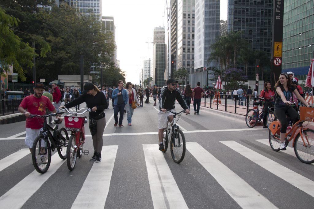 Avenida Paulista em dia de deixar o carro em casa (foto: Mariana Gil/WRI Brasil Cidades Sustentáveis)