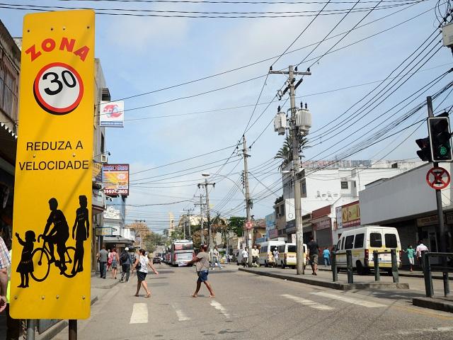 O Rio de Janeiro também implementou zonas de baixa velocidade (Foto: Mariana Gil/WRI Brasil Cidades Sustentáveis)