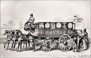 Os primeiros omnibus de Londres (imagem: domínio público)