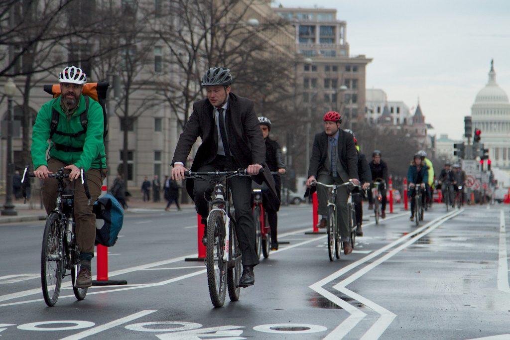 Washington, DC, candidata na corrida para a segunda sede da Amazon, tem uma extensa infraestrutura de ciclismo. (Foto: World Resources Institute)