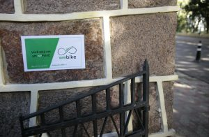 Bikes podem ser retiradas nos wePoints(Foto: Sergio Trentini/WRI Brasil Cidades Sustentáveis)