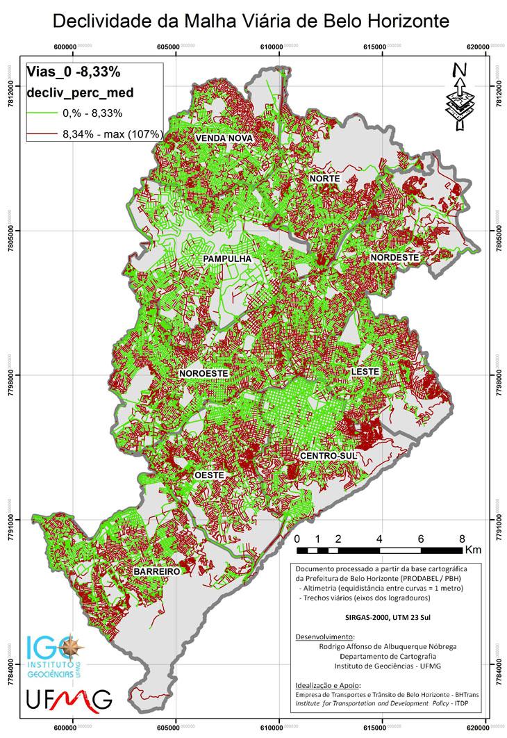 (Mapa de Declividades de BH)