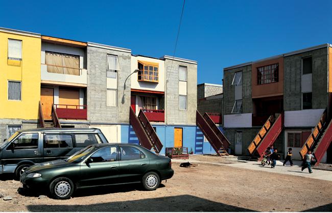 O projeto de habitação Quinta Monroy (Foto: Pontificia Universidad Católica de Chile/Flickr)