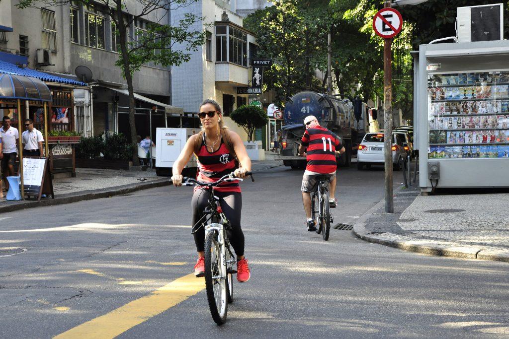 Ciclista no Rio de Janeiro