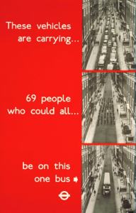 Campanha espaço ocupado por carro Londres