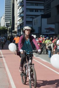 ciclista na Avenida Paulista