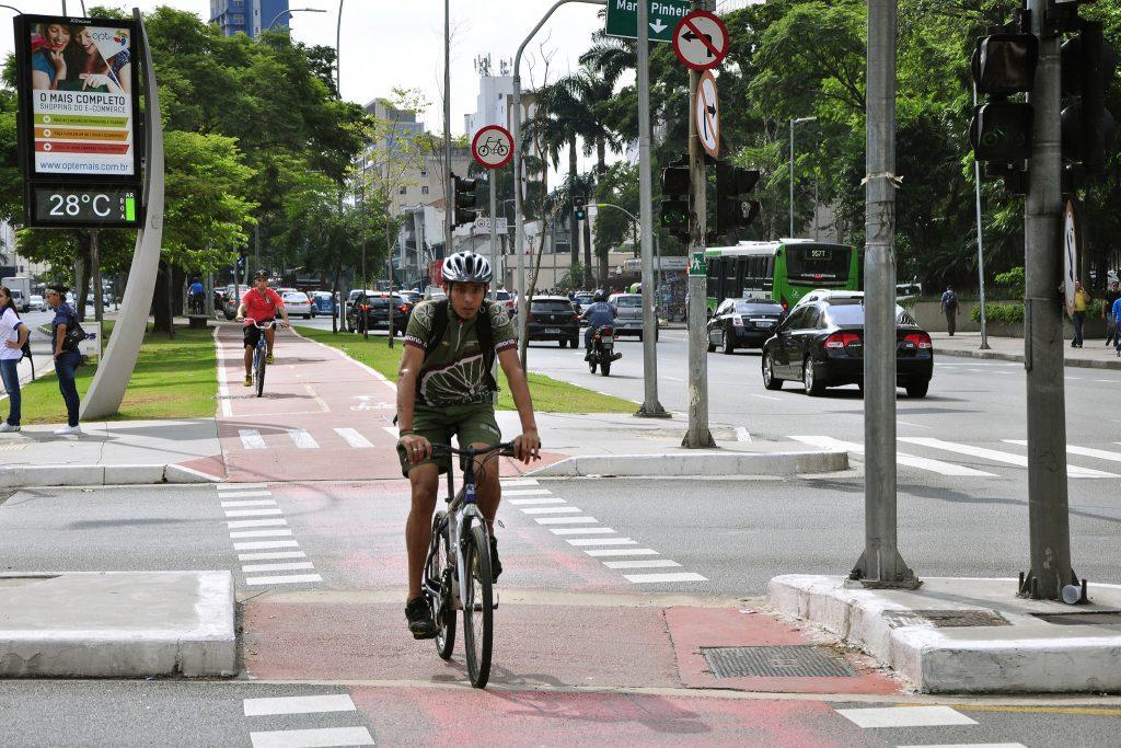 ciclista em São Paulo