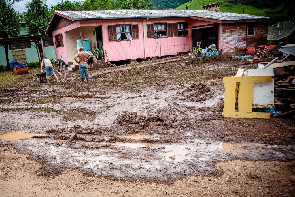Registro da cidade de Rolante após fortes chuvas em janeiro de 2017. (Foto: IASD/Flickr-CC)