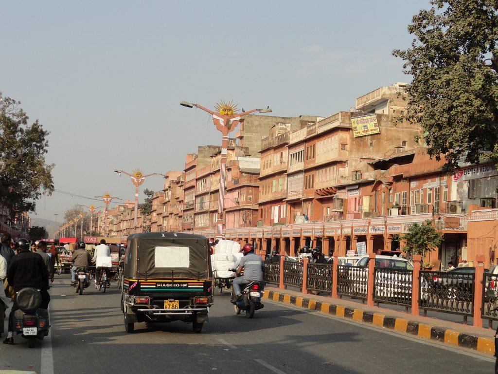 Avenida de Jaipur, na Índia. (Foto: EMBARQ/Flickr)