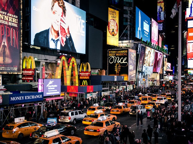 Traffic Congestion Plagues New York City's Times Square. Photo by Javi Sánchez de la viña/Flickr