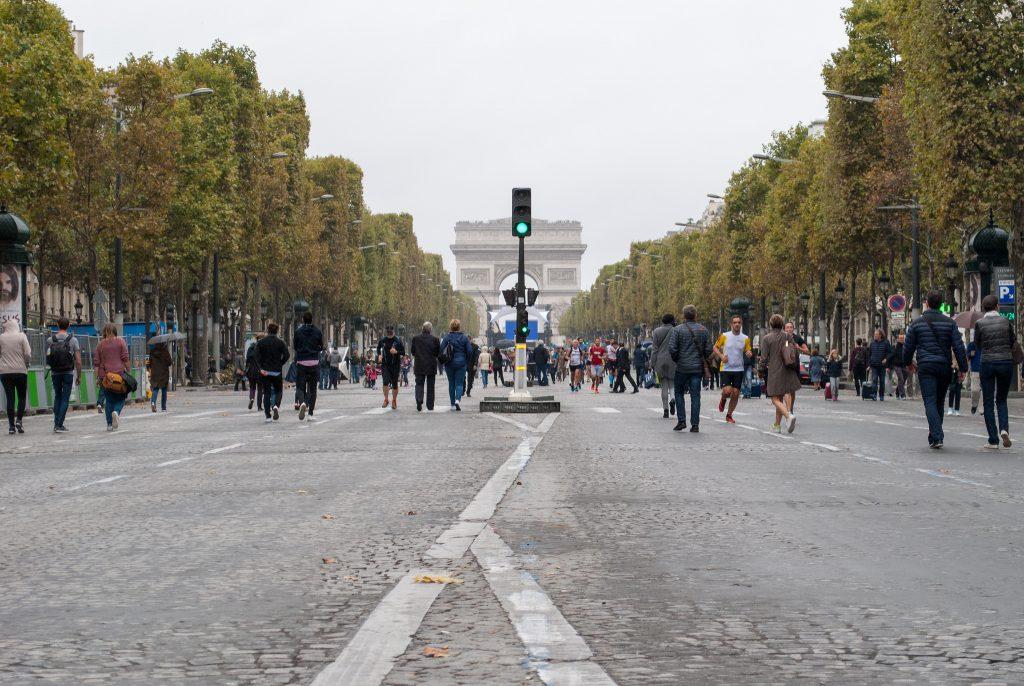 Último Dia sem Carro em Paris proibiu a circulação de veículos em toda a cidade. (Foto: Laura Azeredo)