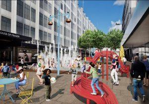 Mobiliário urbano será um dos pontos fortes da Oxford Street. (Imagem: TfL)